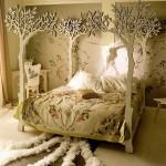 Обои в дизайне спальни - Комбинация 3 фото