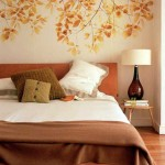 Светлые обои в оформлении спальни - Комбинация 7 фото