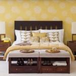 Обои в дизайне спальни - Комбинация 4 фото