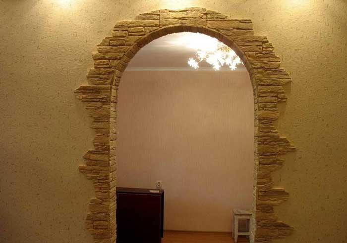 Оформление арки в квартире обоями своими руками 97