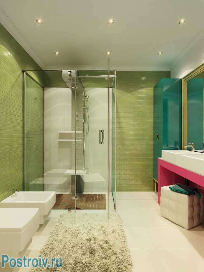 Ванная в стиле поп-арт. Фото