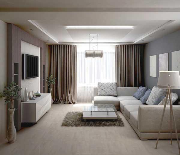 Сочетание цветов в интерьере гостиной 113 фото  ЭтотДом