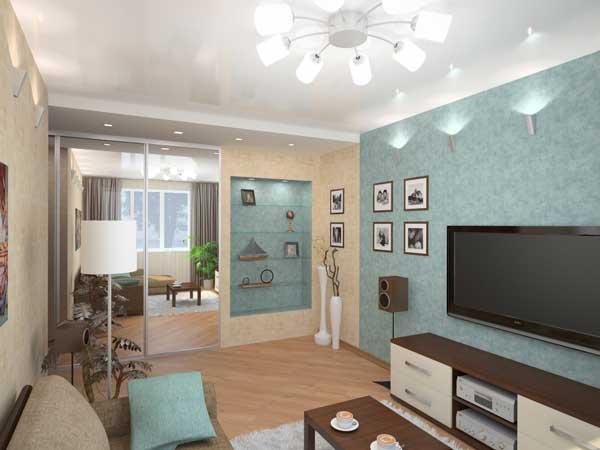 Дизайн зала в однокомнатной квартире 18 кв.м фото