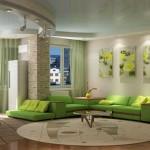 Зеленый ремонт зала. Фото