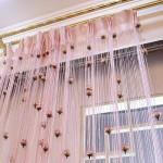 Современные розовые шторы нитяные пик сезона 2014