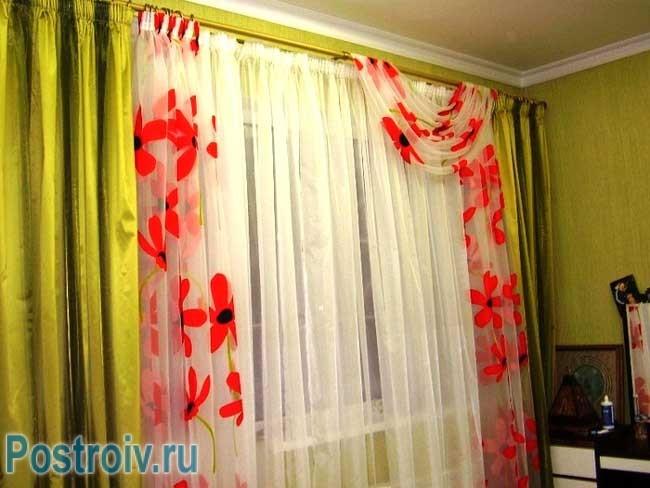 Комбинированные шторы в детскую комнату