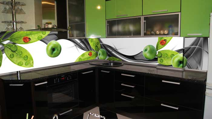 Скинали для зеленой кухни. Фото 9