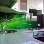 Кухонный фартук скинали в дизайне кухни. Фото 11