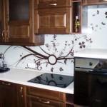 Кухонный фартук скинали в дизайне кухни. Фото 12