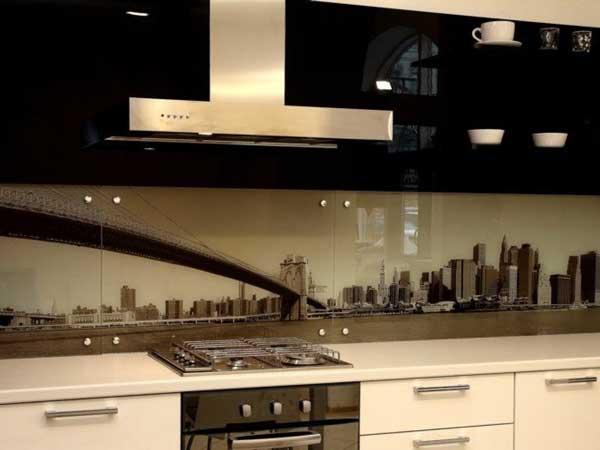 Закаленное стекло кухонного фартука