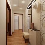Светлый дизайн коридора. Фото
