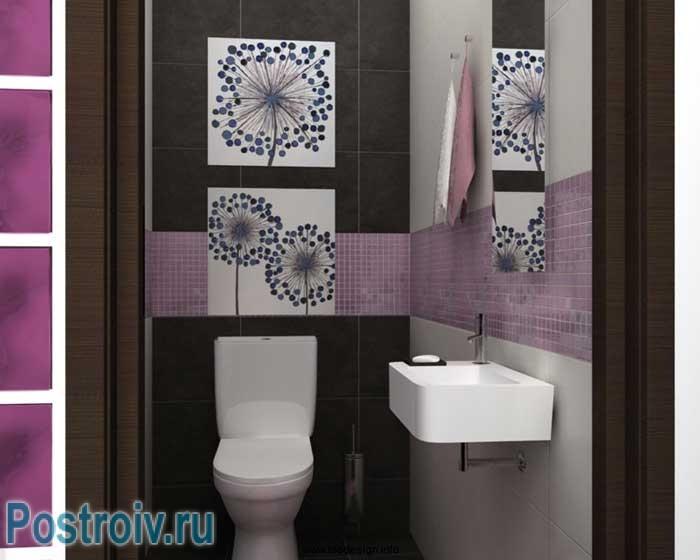 Дизайн маленького туалета. Фото