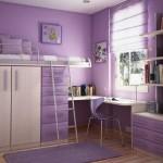 Фиолетовые стены в детской. Фото