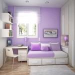 Сочетание фиолетового цвета в детской. Фото