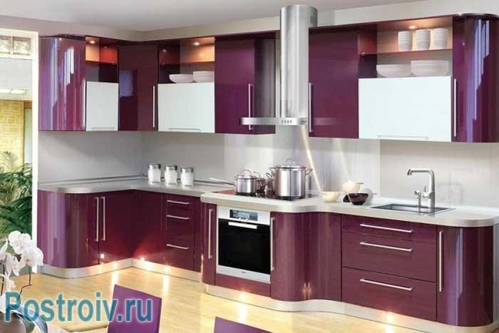 Фиолетовый кухонный
