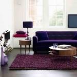 Мягкая мебель фиолетового цвета