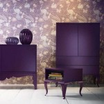 Фиолетовая корпусная мебель. Фото