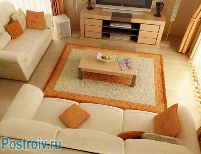 Правильно расставить мебель мебель в