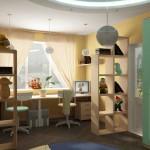 Как расставить мебель в детской. Зонирование комнаты для ребенка