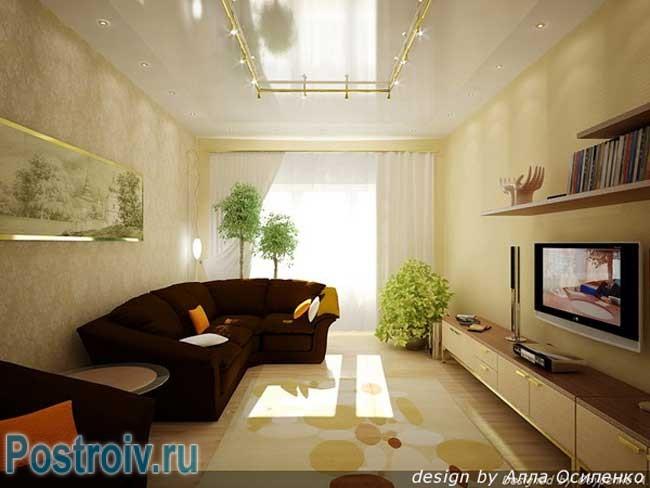 Интерьеры маленьких квадратных комнат