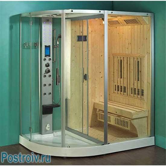 Парилка прямо в душевой кабине. Собственная баня в ванной