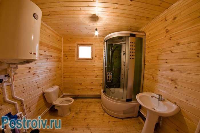 Как выбрать душевую кабину: закрытая кабина в ванной, отделанной вагонкой