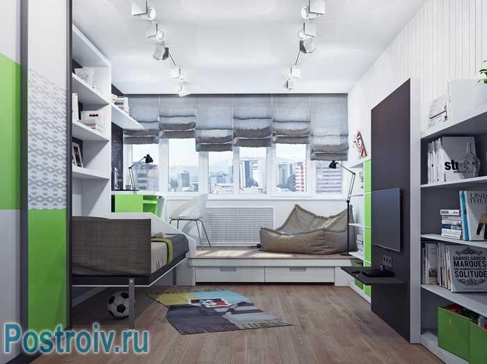 Дизайн светлой детской комнаты в стиле минимализм. Элементы стиля хай-тек