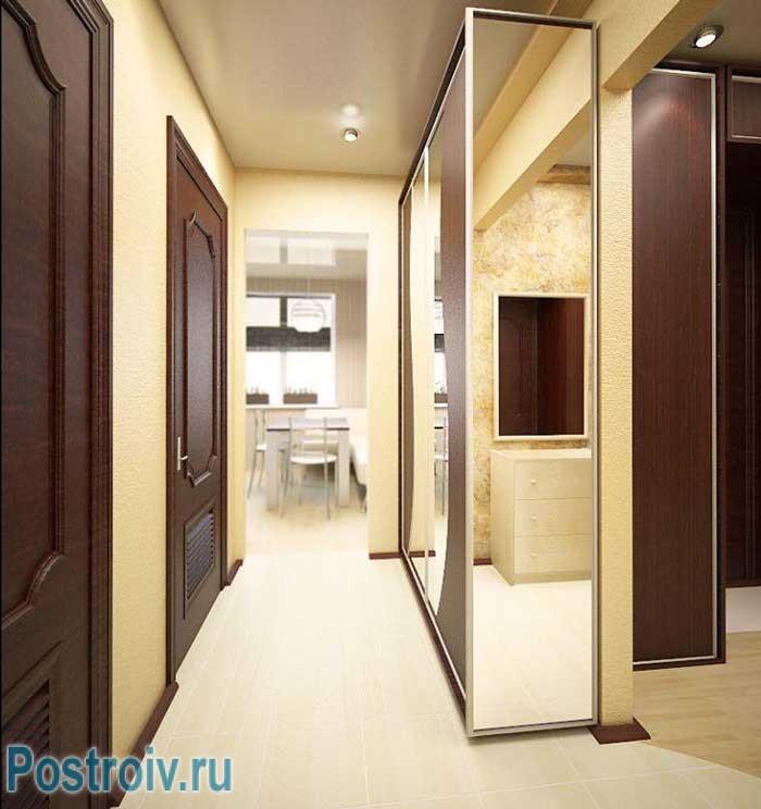 коридор узкий дизайн фото