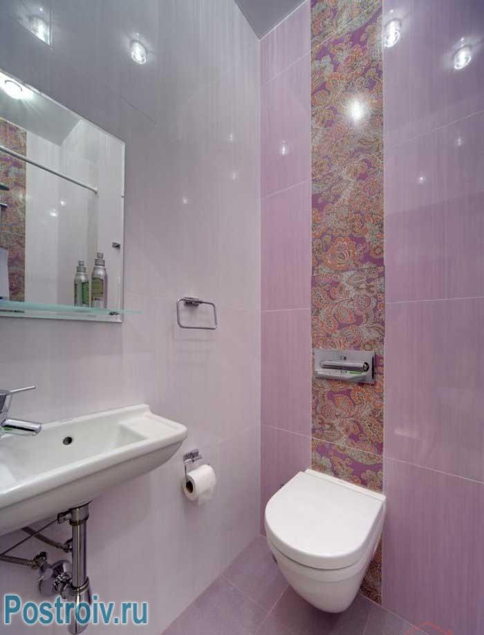 Розовый туалет. Фото