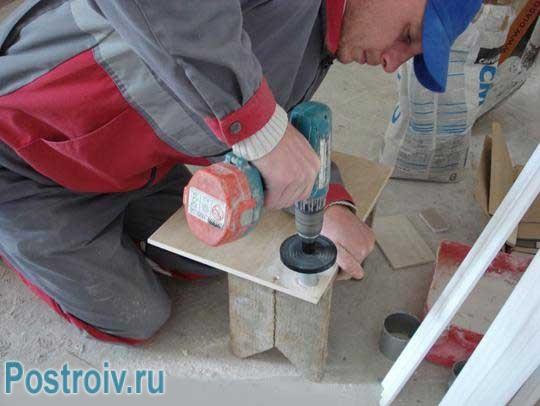 Как сверлить кафельную плитку своими руками. Фото