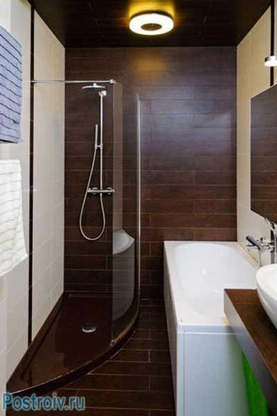 маленькие ванные с душевой кабиной