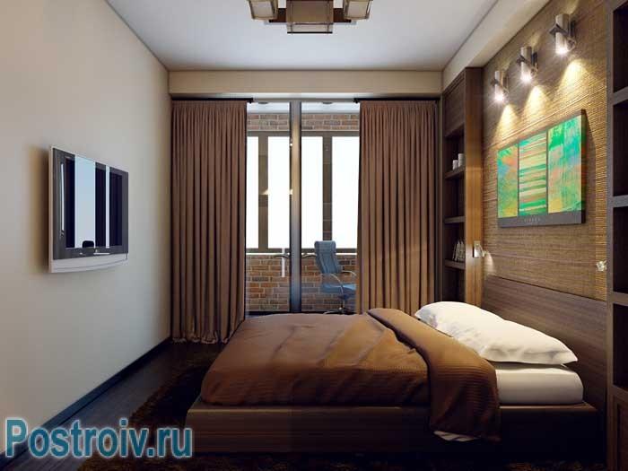 Дизайн проект 2-комнатной квартиры. Фото спальни