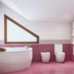 Угловая ванная комната дизайн. Фото