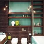 Дизайн угловой ванной комнаты. Фото