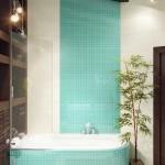 Три цвета в дизайне ванной комнаты. Фото