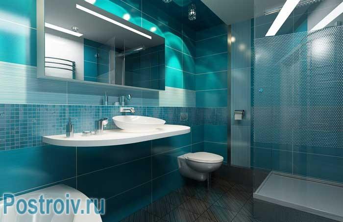 Ванная угловая дизайн