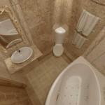 Дизайн угловой ванны и углового унитаза. Фото