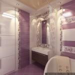 Много света в розовой ванной комнате. Фото