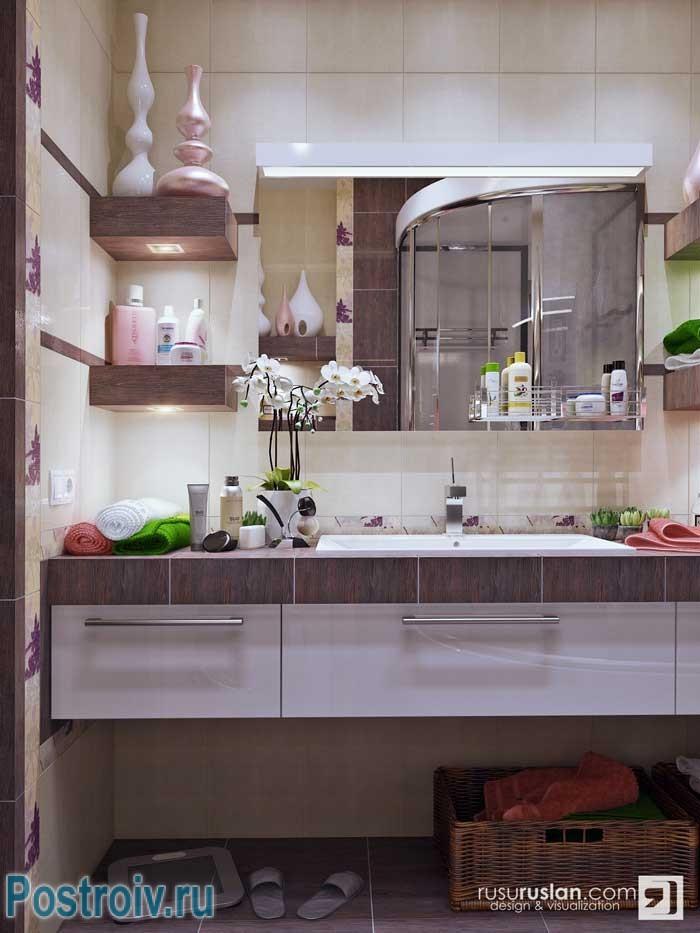 Душевая своими руками в ванной комнате