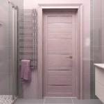 Розовая дверь в ванную комнату