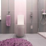 Дизайн розово-серой ванной комнаты с кабиной