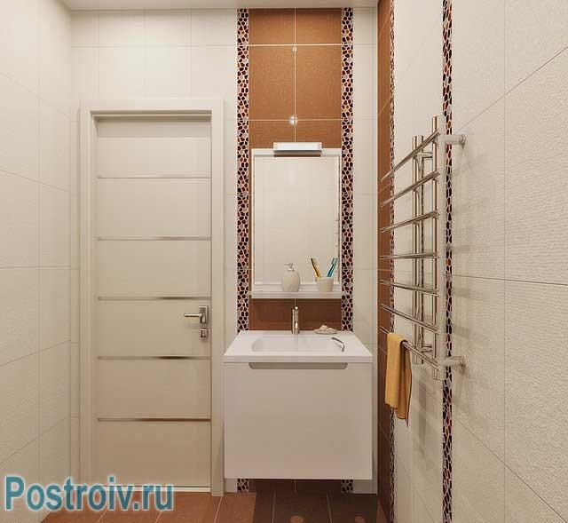 Дизайн ванной комнаты с квадратной душевой кабиной. Фото
