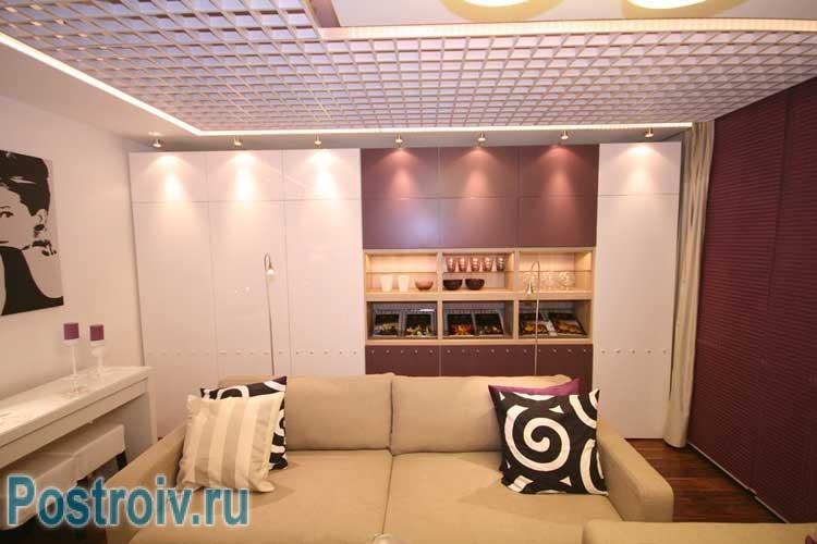 Дизайн шкафа во всю стену