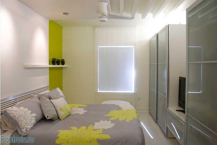 Использование некоторых дизайнерских рекомендаций для маленькой спальни - Фото