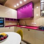 Дизайн угловой кухни 8 кв. м. в новостройке. Фото