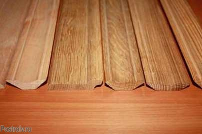Виды деревянных плинтусов. Фото
