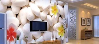 Модные 3D фотообои с цветами. Фото