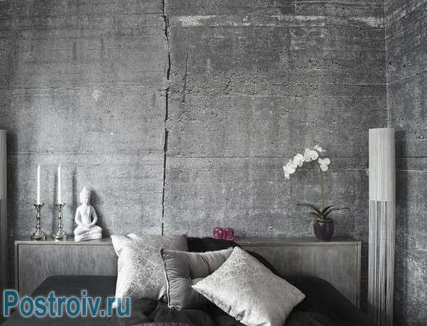Обои, имитирующие бетон