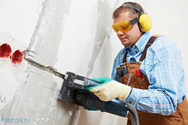 Штробление стен под проводку своими руками - Фото