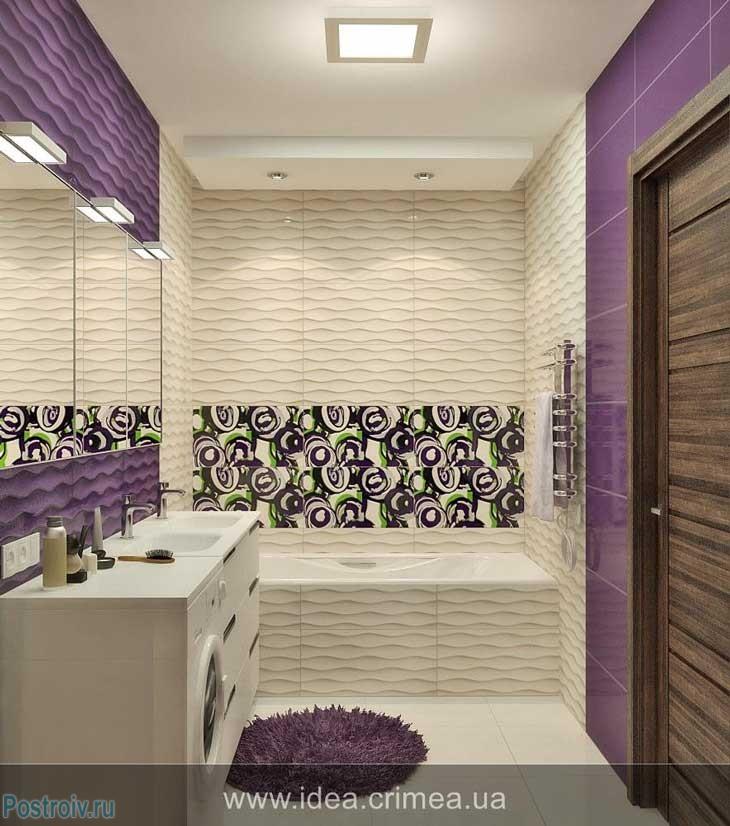 Красивый дизайн маленькой ванной комнаты фото